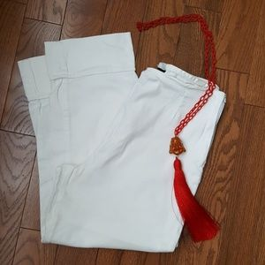 Vintage studio white cropped pants